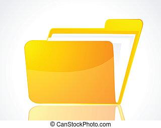 abstract folder icon vector