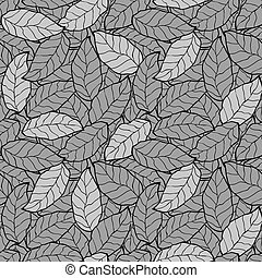 abstract foliage, leaf seamless background