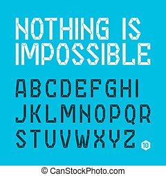 Abstract font, alphabet