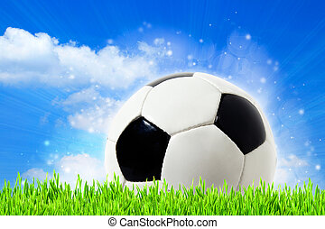 abstract football backgrounds with beauty bokeh