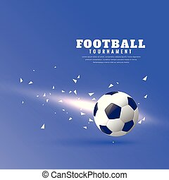 abstract football blue background with light and particle effect