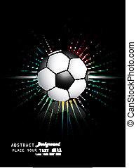 abstract football bright black blue colorful rainbow rays vector