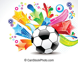 abstract football colorful