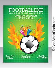 abstract football flyer vector