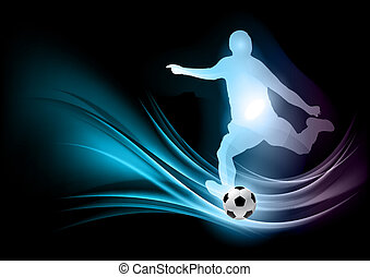 abstract football player