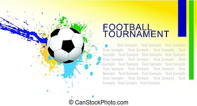 Abstract football (soccer) vector background