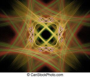 Abstract Fractal Art Fuzzy Diamond Object