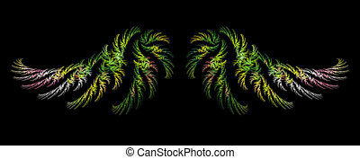 Abstract Fractal Art Winged Object