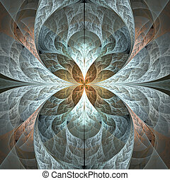 Abstract fractal background in grey colors