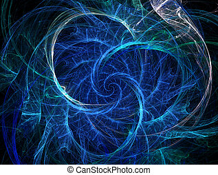 Abstract fractal background with rotation elements , sparks...