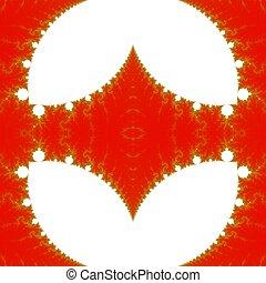 Abstract fractal design background