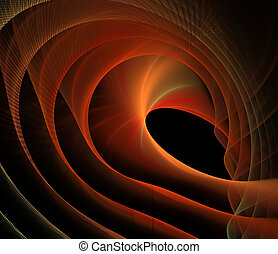 Abstract fractal elegant red waves background and copy space