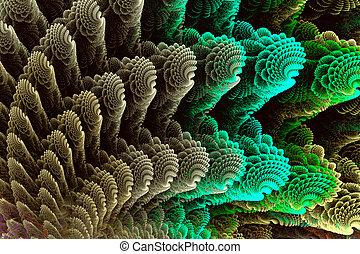 Abstract fractal image colorful sea shells.