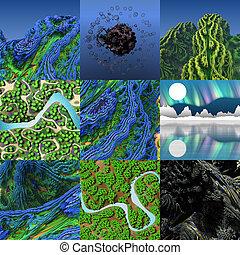 Abstract fractal landscape
