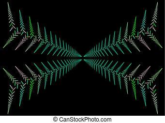 abstract fractal leaf