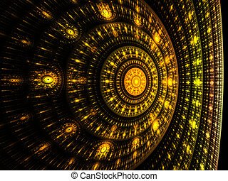 Abstract fractal on the black background - Colorful abstract...