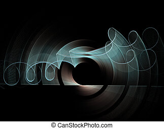 Abstract fractal pattern on black background