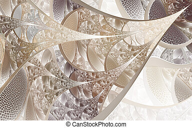 Abstract fractal patterns and shapes. Fractal texture. For Puzzle or Tie prints or other high-quality prints. Fractals are infinitely complex patterns that are self-similar across different scales.