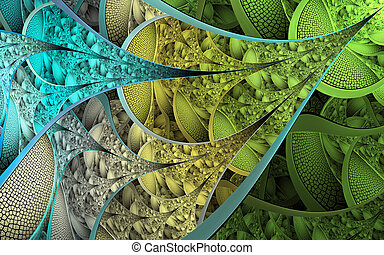 Abstract fractal patterns and shapes. Fractal texture. For ...