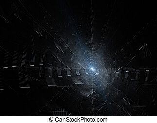 abstract fractal rotational  pattern on black background