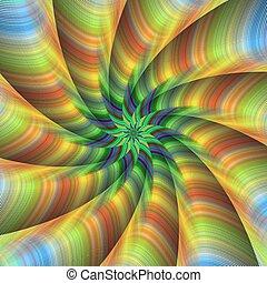 Abstract fractal spiral design background