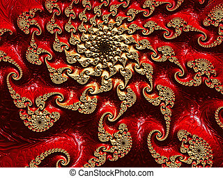 Abstract fractal spiral - digitally generated image