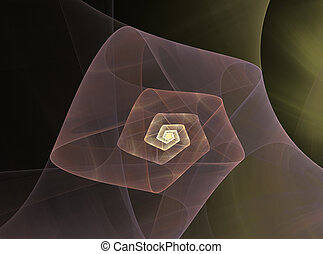abstract fractal spiral pattern
