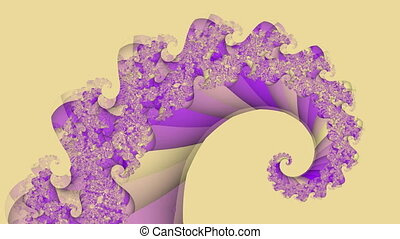 Abstract fractal spiral seamless loop background
