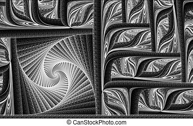 Abstract fractal texture computer-generated image