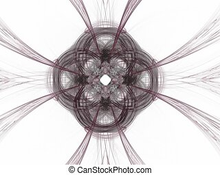 Abstract fractal with purple pattern