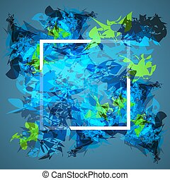 Abstract frame design. Concept cover for electronic music graphic