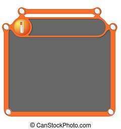 Abstract frame for headline and test tube