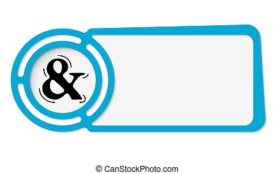 Abstract frame for your text and ampersand