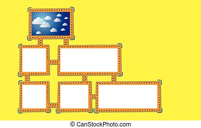 Abstract frame for your text and clouds