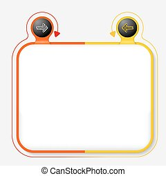Abstract frame for your text and striped arrow