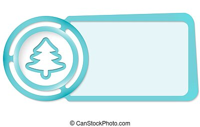 Abstract frame for your text and tree symbol