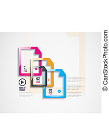 Abstract frame infographics