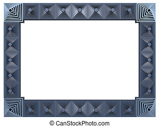 Abstract frame isolated on white background. 3d rendering.