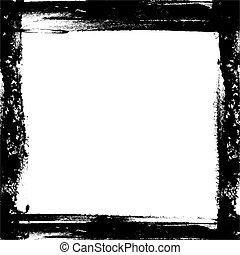 Abstract Frame made with black paint and brush