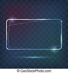 Abstract frame neon light background