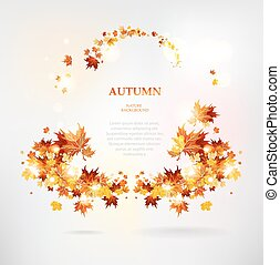 Abstract frame of autumn leaves
