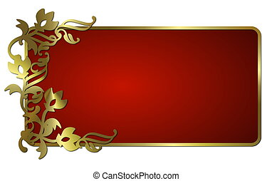 abstract frame red