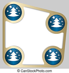 abstract frame with Christmas motif