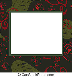 Abstract frame with green and red e
