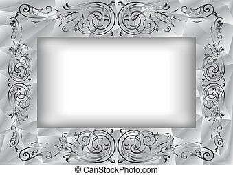 Abstract frame with ornament