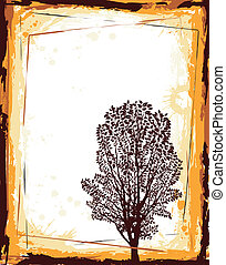Abstract frame with tree