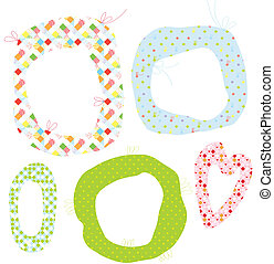 Abstract frames for kids set with patterns