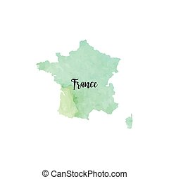 Abstract France map