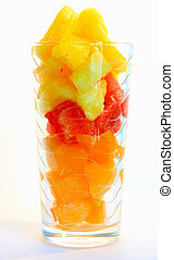 Abstract fruit juice in the glass