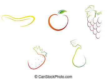abstract fruits vector format